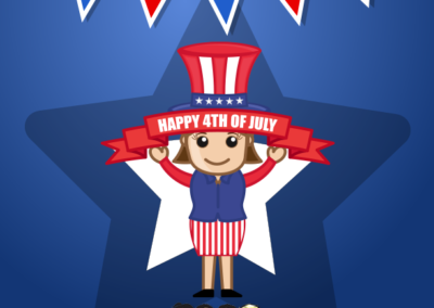 4th of July social media posting dental
