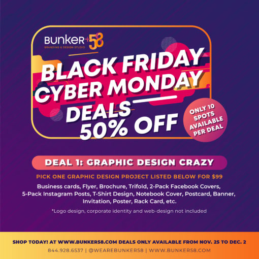Black Friday Bunker58 Graphic Design Crazy Deal