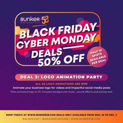 Black Friday Bunker58 Logo Animation Crazy Deal